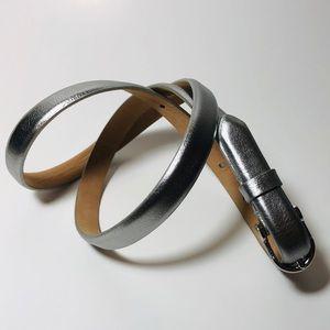 J.Crew Silver Leather Belt